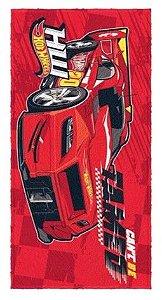 Toalha Felpuda - Hot Wheels - Vermelha