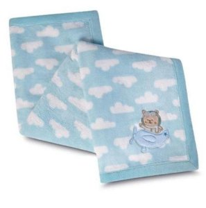 Manta Fleece Bordada - Baby - Ursinho