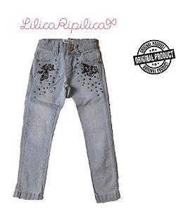Calça Jeans com Pedras - Lilica Ripilica