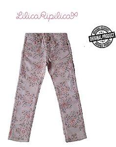 Calça de Sarja com Flores - Lilica Ripilica