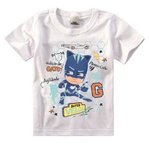 Camiseta PJ Masks - Menino Gato