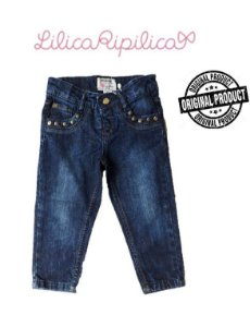 Calça Jeans com Tachas Douradas - Lilica Ripilica