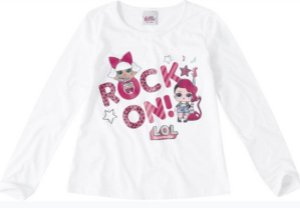 Blusa LOL Surprise - Branca - Rocker e Diva