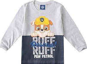 Camiseta da Patrulha Canina - Rubble - Cinza - Malwee