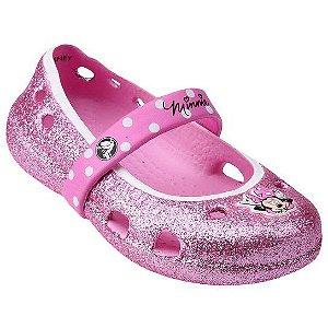 Sapatilha Crocs da Minnie - Rosa - com Glitter