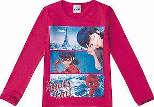 Blusa Rosa Ladybug - Miraculous