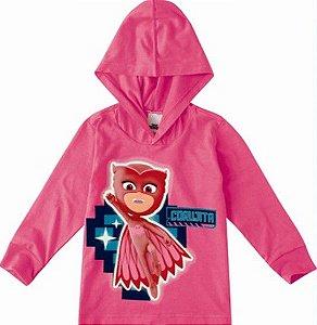 Blusa Infantil PJ Masks Corujita Rosa - Malwee