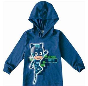 Blusa Menino Gato PJ Masks - Azul - Malwee