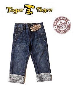 Calça Jeans com Barra- Tigor