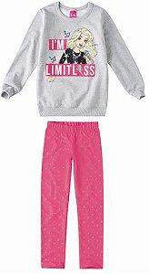 Conjunto de Blusa Moletom e Legging Estampada - Barbie