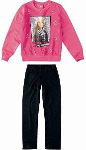 Conjunto de Blusa Moletom e Legging - Barbie
