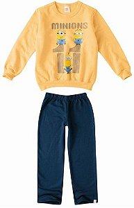Conjunto de Blusa e Calça Moletom - Minions - Amarelo