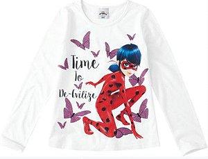Blusa Ladybug - Miraculous - Branca