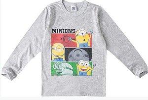 Camiseta Minions - Cinza Mescla