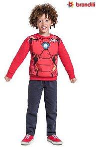 Conjunto de Moletom - Blusa Músculos e Calça - Homem de Ferro