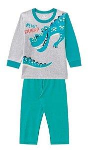 Pijama Bebê Dinossauro - Verde - Brandili