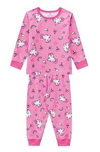 Pijama Unicórnio - Rosa