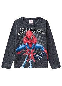 Camiseta do Homem Aranha - Cinza Chumbo - Brilha no Escuro
