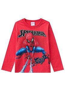 Camiseta do Homem Aranha - Vermelha - Brilha no Escuro