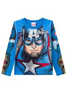 Camiseta do Capitão América  - Avengers - Brilha no Escuro