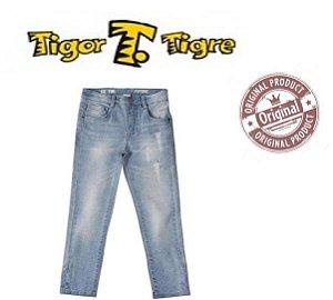 Calça Jeans Stone Azul Claro- Tigor Baby