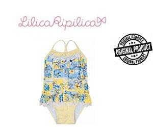 Maiô Floral com Broderi -  Lilica Ripilica Baby