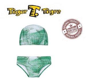 Sunga e Touca de Bebê da Tigor - Verde