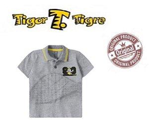Camisa Polo do Tigor T Tigre Baby - Cinza
