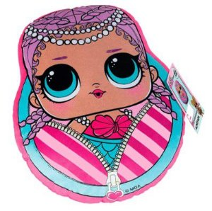 Almofada Infantil LOL Surprise Merbaby -Rosa - Lepper