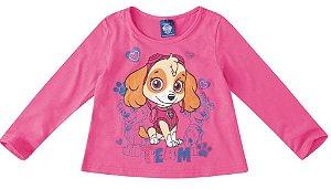 Blusa da Skye - Patrulha Canina - Rosa