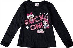 Blusa LOL Surprise - Preta - Rocker e Diva
