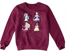 Moletom Felpado - Princesas da Disney - Vinho