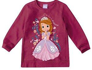 Moletom Felpado Princesa Sofia - Disney - Vinho