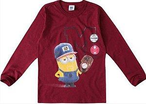 Camiseta dos Minions - Bordô - Malwee