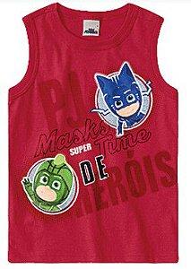 Regata PJ Masks - Menino Gato e Lagartixo - Vermelha