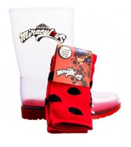 Bota Ladybug - Miraculous - Especial com Meia - Grendene