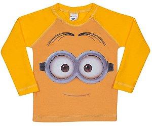 Camiseta Proteção UV Infantil Minions Amarela - Tiptop