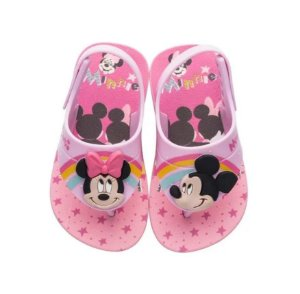 Sandália Disney Cute Minnie e Mickey - Rosa - Grendene Kids