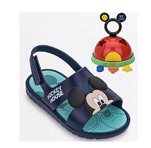 Sandália Infantil Mickey Disney Com Brinde -Azul - Grendene Kids