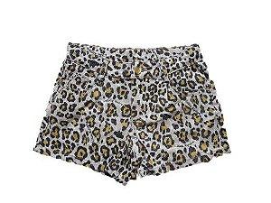 Shorts Infantil Sarja Tigrada -  Marrom - Lilica Ripilica