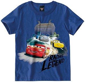 Camiseta Carros - Mcqueen - Azul