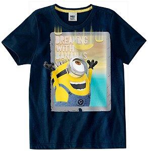 Camiseta Infantil Minions  -  Meu Malvado Favorito - Azul - Malwee