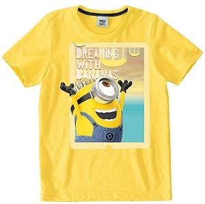 Camiseta dos Minions - Amarela - Meu Malvado Favorito - Malwee