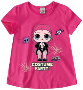 Blusa LOL's Surprise - Rosa - Halloween - Brilha no Escuro