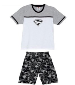 Pijama do Superman - Cinza e Branco - Lupo