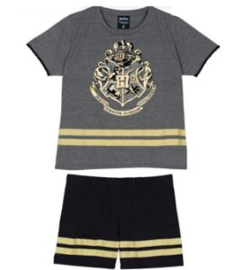 Pijama Short Doll Harry Potter Disney - Preto e Dourado - Lupo