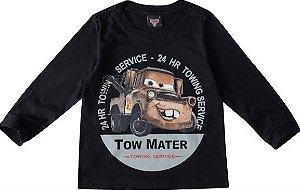 Camiseta Carros Tow Mater - Preta - Malwee