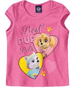 Blusa da Skye e Everest - Patrulha Canina - Rosa
