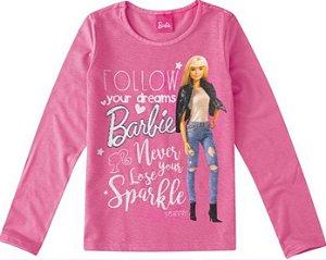 Blusa Infantil Barbie Rosa - Malwee
