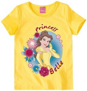 Blusa Princesa Bela - Princesas da Disney - Amarela - Malwee